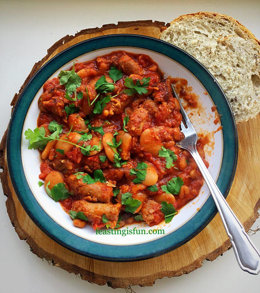 FF Spicy Sausage Bean Casserole