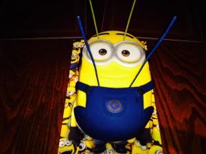 Dave the Minion getting acupuncture!!! Thanks again ASDA xxxxxx