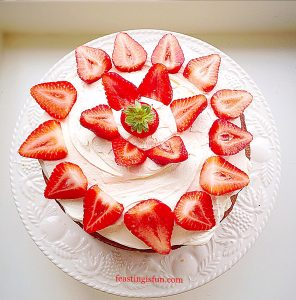 Strawberries And Cream Cake,