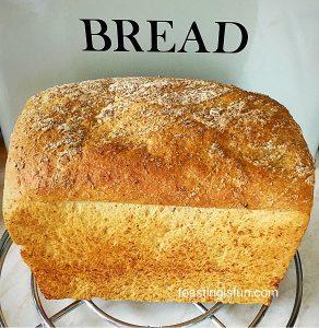 Lighter wholemeal bread loaf.