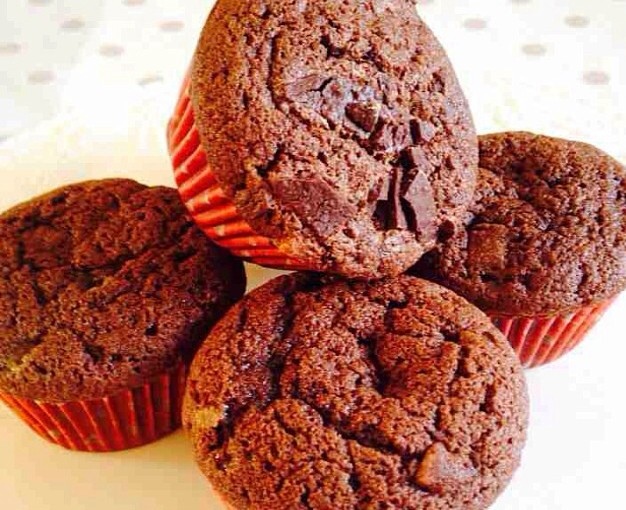 Double Chocolate Chunk Mint Cupcakes.
