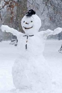Great fun was had building this snowman!'n