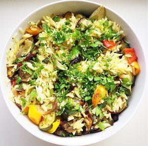Roasted Summer Vegetable Orzo Salad