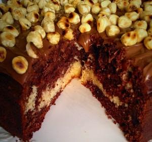 Chocolate and Vanilla Cake Swirled together. Seriously luscious!