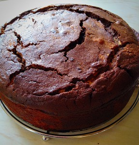 Don't worry if there are a few cracks on the top. These will close as the cake cools.