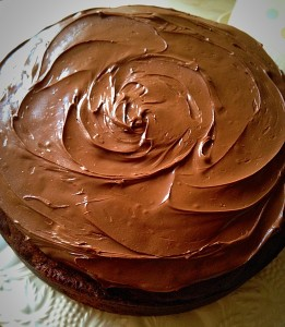 Oooh scrummy, this Nutella covered cake looks ready to eat - but we can add a final touch!