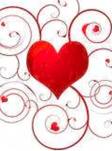 Pretty swirly heart design.