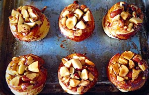 It works every time! Perfect Brazil Nut topped buns.