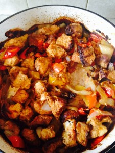 Easy Tex Mex Chicken with softened peppers and caramelised onions - delish!