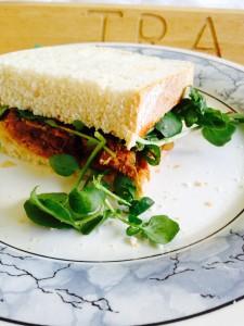 Hot, moist, peppery, meaty - Jerk Pulled Pork Sandwich - a must try for leftover pork!