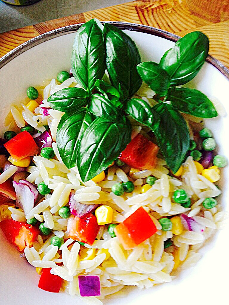 Lemon Garlic Vegetable Orzo