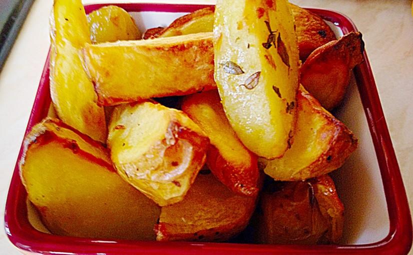 Baked Garlic Herb Potato Wedges