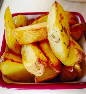 Yummy Baked Garlic Herb Potato Wedges