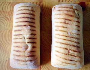 Take two panini rolls....