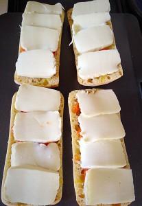 Lay slices of mozzarella over the top......