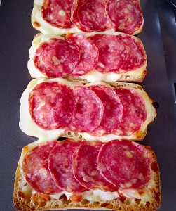 Remove the pizzas from the oven and get ready for the best lunch ever!!!!
