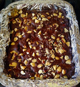 Your Nuts About Brownies are nearly ready to eat!! Remember it's always better to slightly undercook them, that ensures fudgey, gooey, yumminess!!