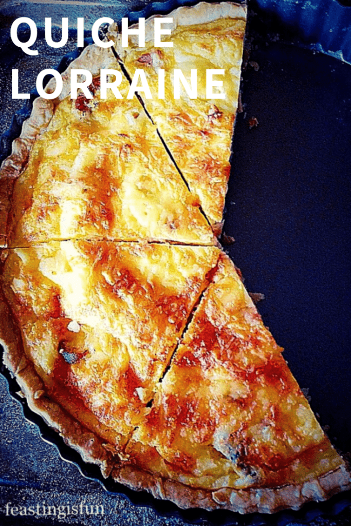 Bacon and cheese, egg tart in tin.