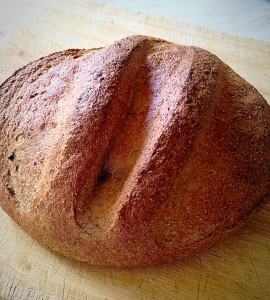 Gorgeous, golden, healthy, Wholemeal Cob Loaf