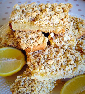 Oat Topped Lemon Shortbread Bars - it's a layer thing - it just works in THE most delicious way!