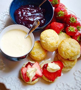Super Light Scones - the quintessential British cream tea.