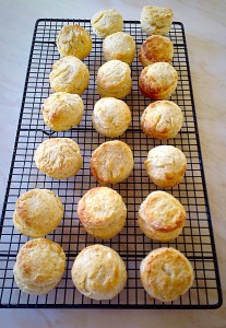 Delicious Super Light Scones - cooling!