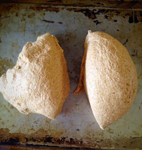 For 2 loaves cut the dough in half.