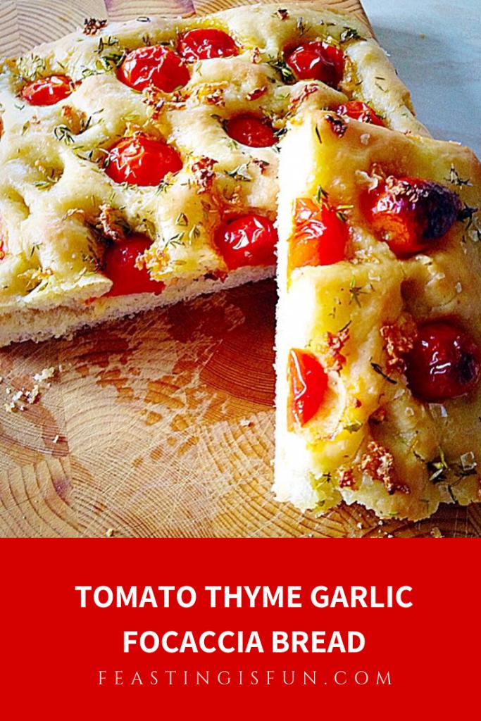 FF Tomato Thyme Garlic Focaccia Bread