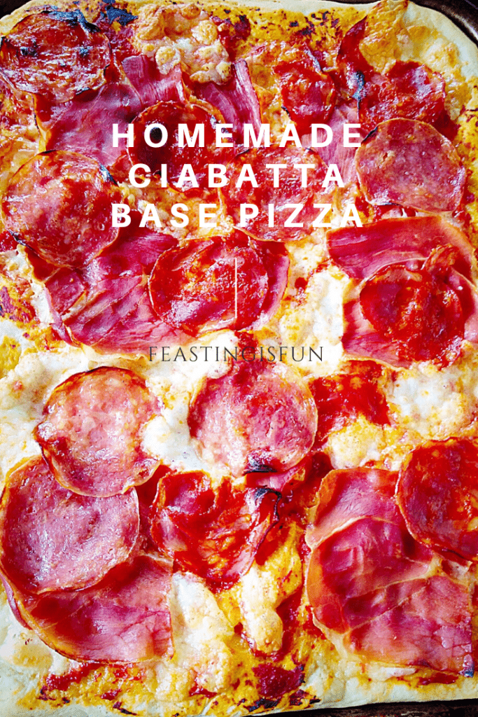 Hand baked, Italian bread based recipe topped with tomato sauce, cheese and a selection of charcuterie.