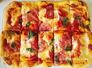 Sun dried tomato bread pizza
