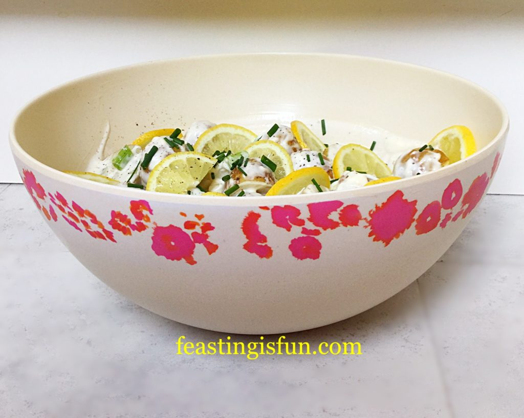 Close up of the pretty bowl, which has flowers around the outside rim.