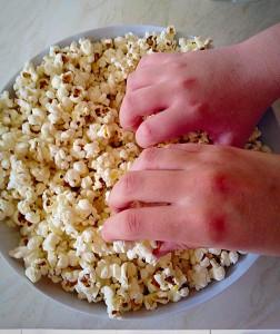 Vanilla Sugar Popcorn - my children couldn't wait to get stuck in!!!!