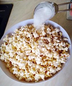 Vanilla Sugar Popcorn - sprinkle over 2 tablespoons of vanilla sugar.