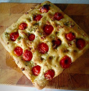 Tomato Thyme Garlic Focaccia.