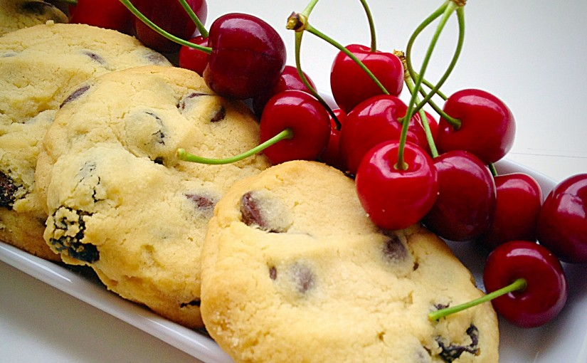 Sour Cherry Chocolate Chip Cookies