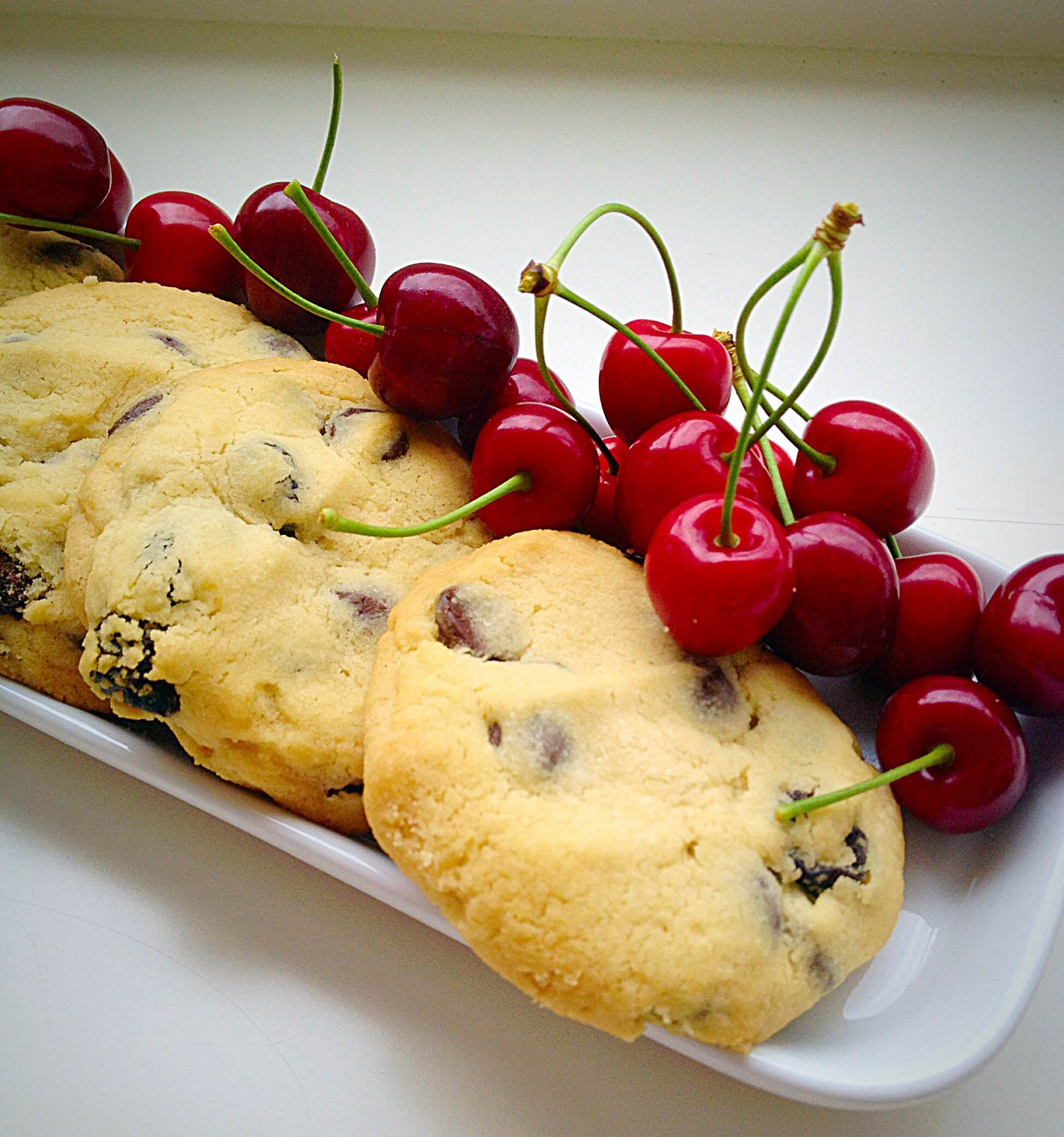 Sour Cherry Chocolate Chip Cookies – the perfect balance of flavour ...