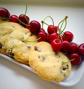 10 Ways To Improve Your Food Blog : Cherries from our garden really make these Cookies pop.