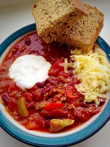 Chunky Chilli - a delicious make ahead meal.