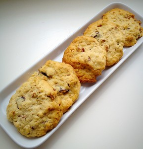 Walnut Fig Oat Cookies - perfect with a cold glass of milk.