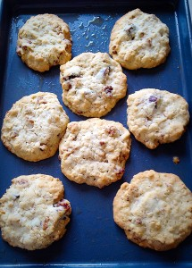Walnut Fig Oat Cookies - allow to firm up and cool on the tray for 10 minutes.