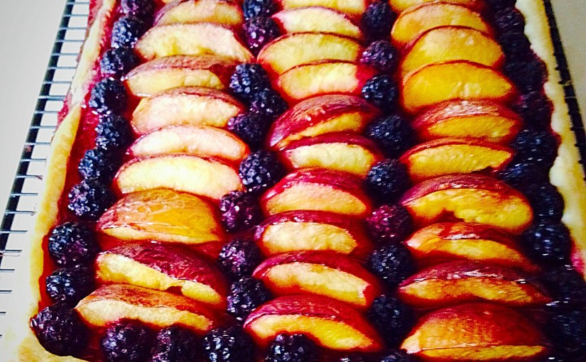Blackberry Nectarine Tart