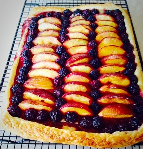 Blackberry Nectarine Tart - if you like a bit more sweetness a dusting of icing sugar would be perfect.