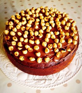 Nutella Hazelnut Covered Chocolate Marble Cake