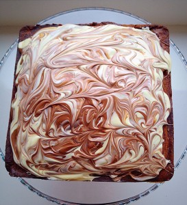 Malted Marbled Chocolate Cake