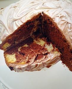 Malted Marbled Chocolate Cake - I'll take a slice please?
