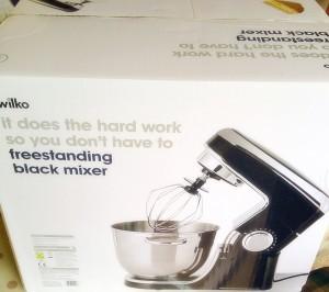 Wilko Freestanding Mixer in black.