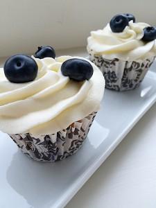 Lemon Blueberry Cupcakes feastingisfun.com