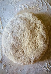 "Roll the dough out until it is 2.5cm/1"" thick."