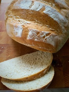 Large White Bloomer golden crust, white crumb delicious www.feastingisfun.com