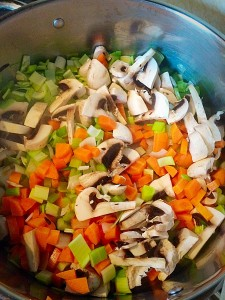 Add the rest of the chopped vegetables and sauté for 5 minutes.